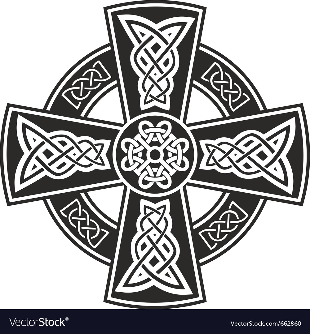 Celtic cross vector clipart vector free stock Celtic cross vector free stock
