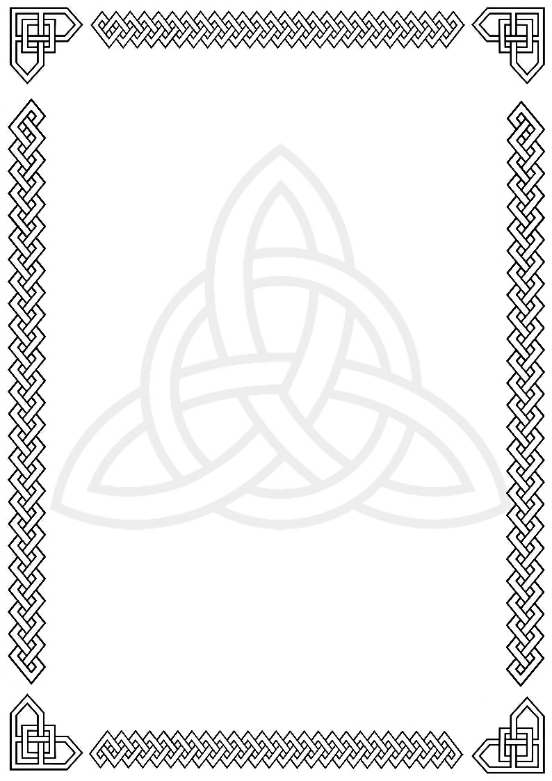 Celtic green border clipart printables free. Cross clipartfest