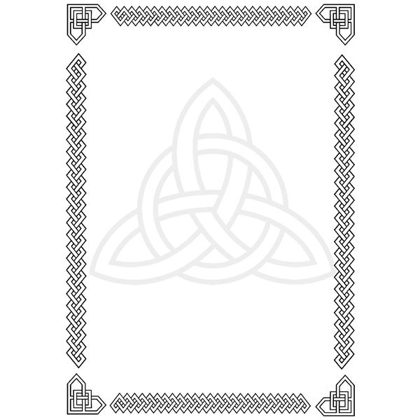 Celtic green border clipart printables free image transparent stock Celtic border clipart free - ClipartFest image transparent stock