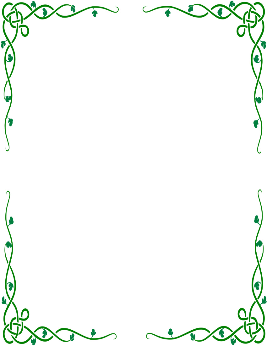 Celtic green border clipart printables free picture black and white library Celtic border clipart - ClipartFest picture black and white library