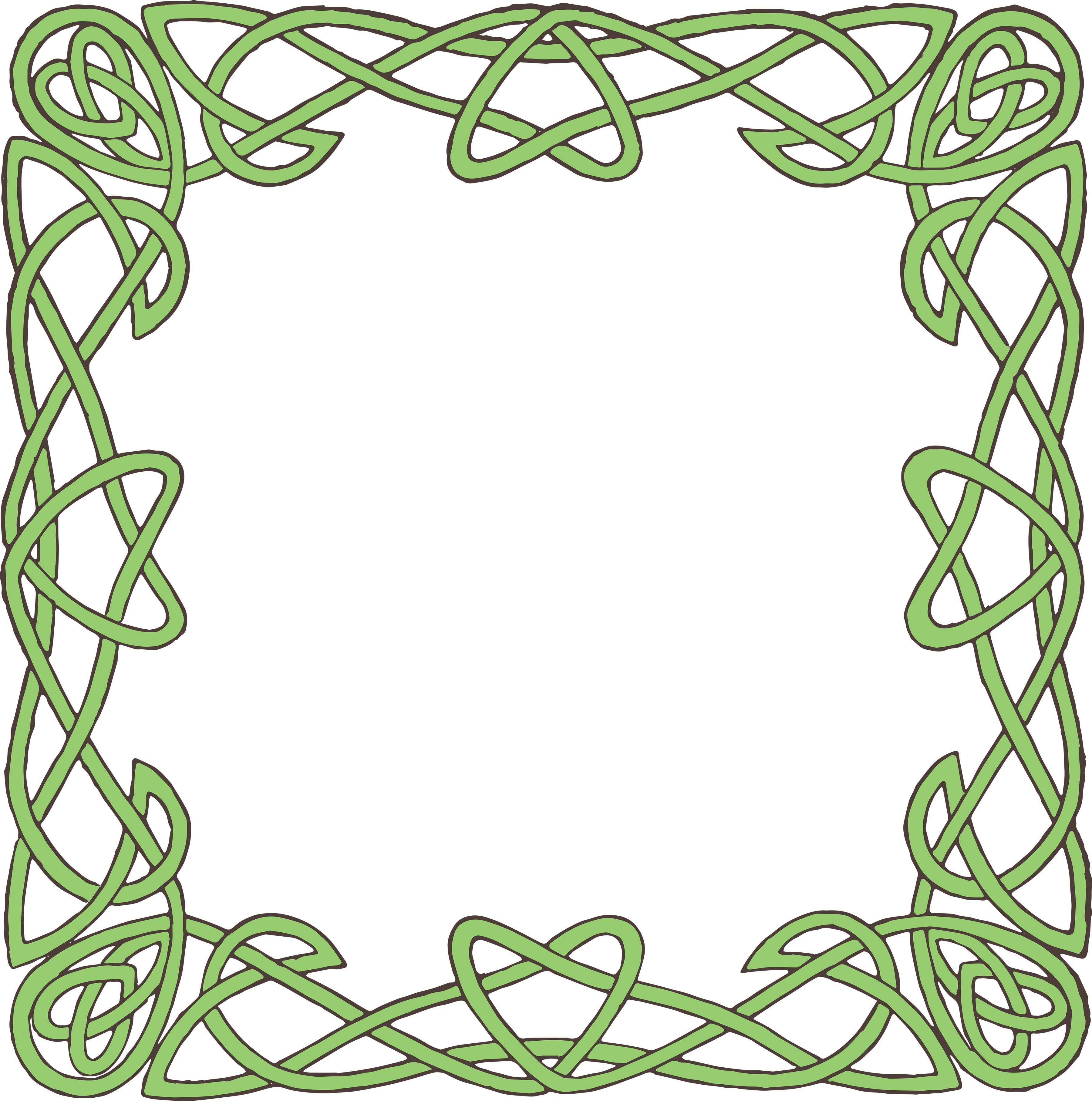 Celtic green border clipart printables free vector freeuse stock Free Celtic Borders - ClipArt Best vector freeuse stock