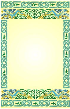 Backgrounds and borders clipartix. Celtic green border clipart printables free
