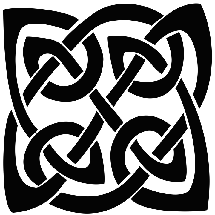 Celtic heart clipart black and white download Square Celtic Knot transparent PNG - StickPNG black and white download