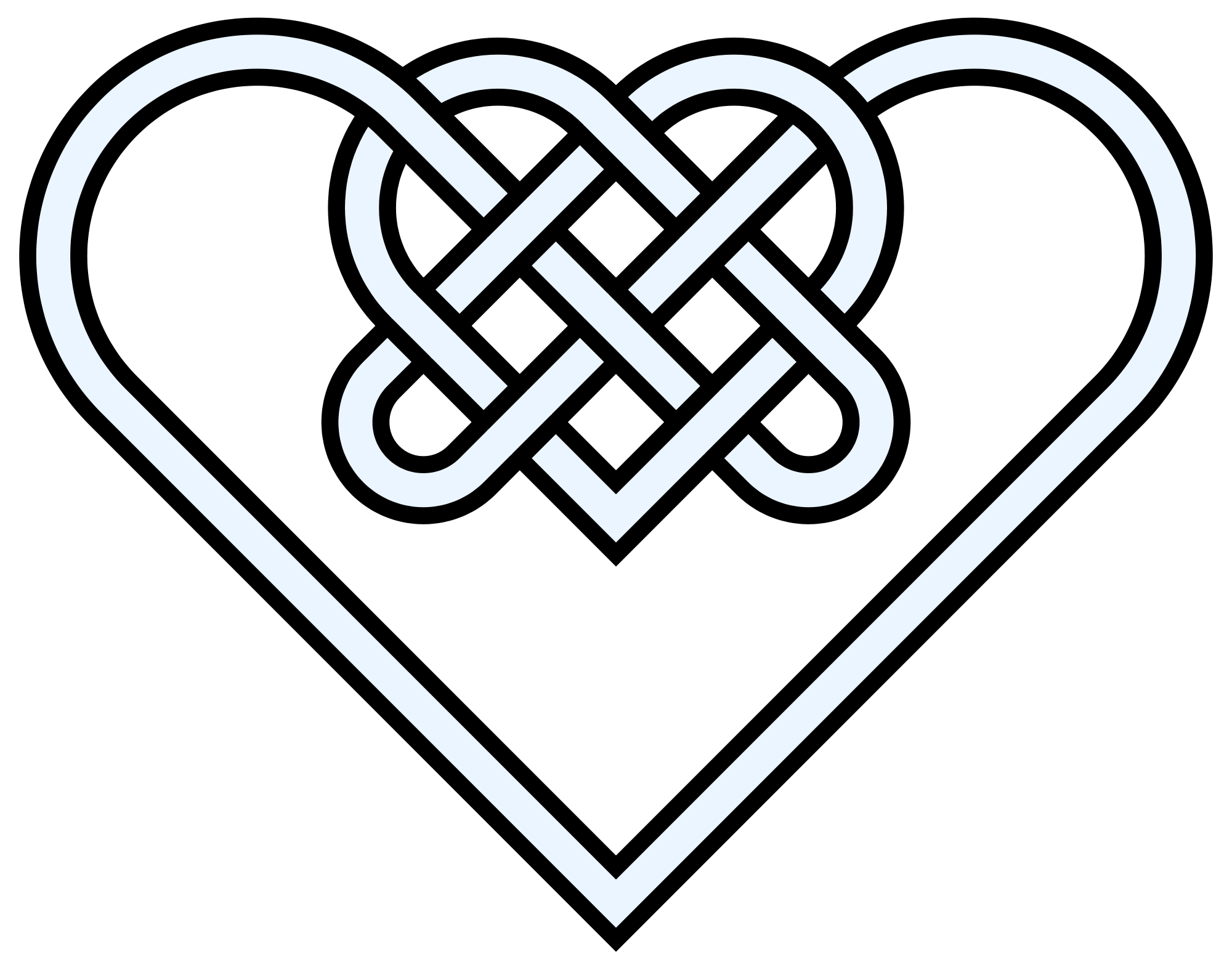 Celtic heart knot clipart vector library Love Knot Drawing at GetDrawings.com | Free for personal use Love ... vector library