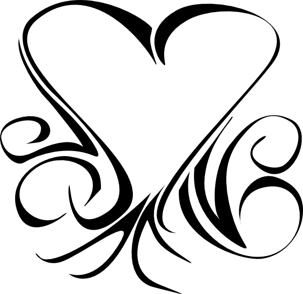 Celtic heart clipart clipart black and white download Celtic Heart Clip Art at Clker.com - vector clip art online, royalty ... clipart black and white download