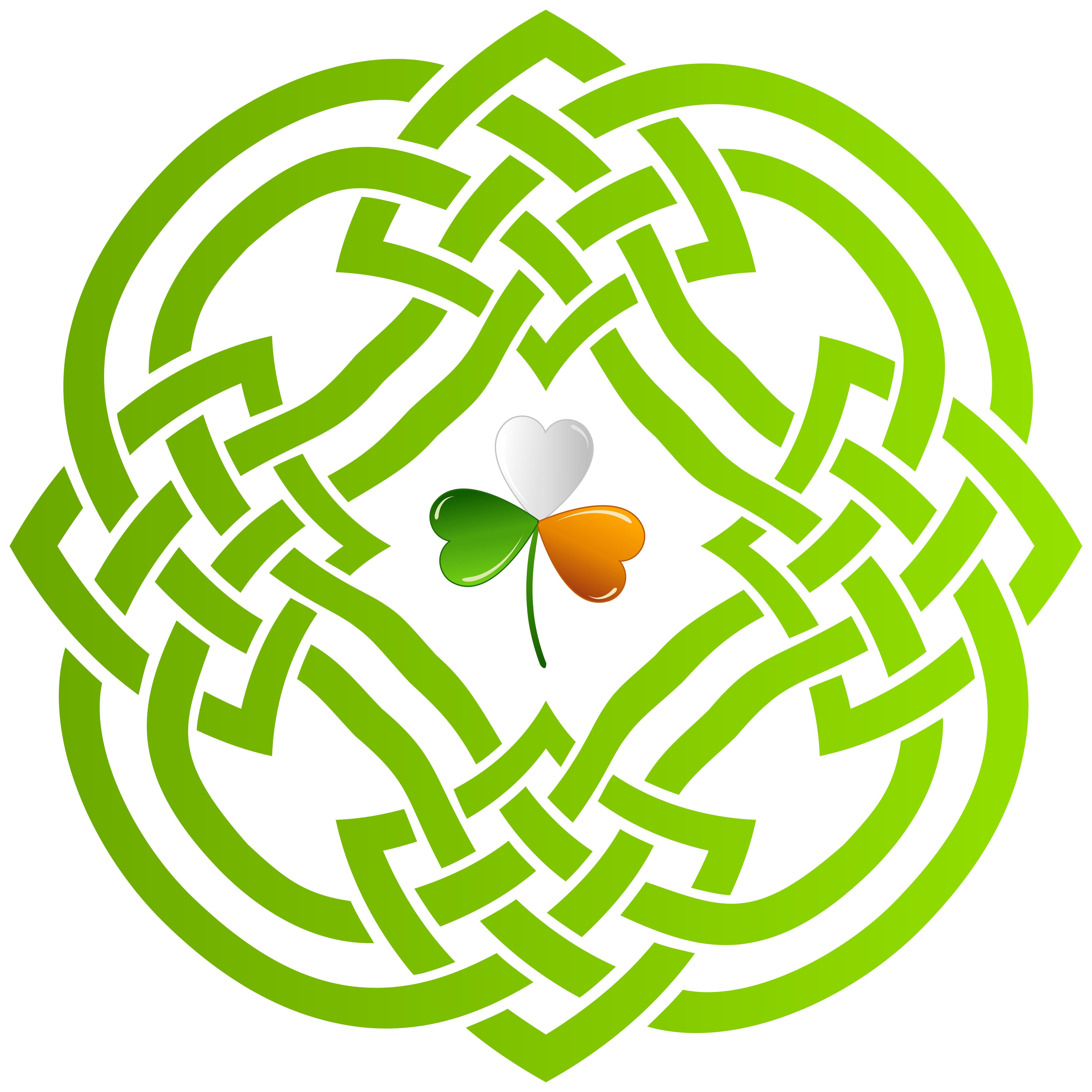 Celtic heart knot clipart picture freeuse stock Celtic Knot and Irish Shamrock Transparent PNG Clip Art Image ... picture freeuse stock