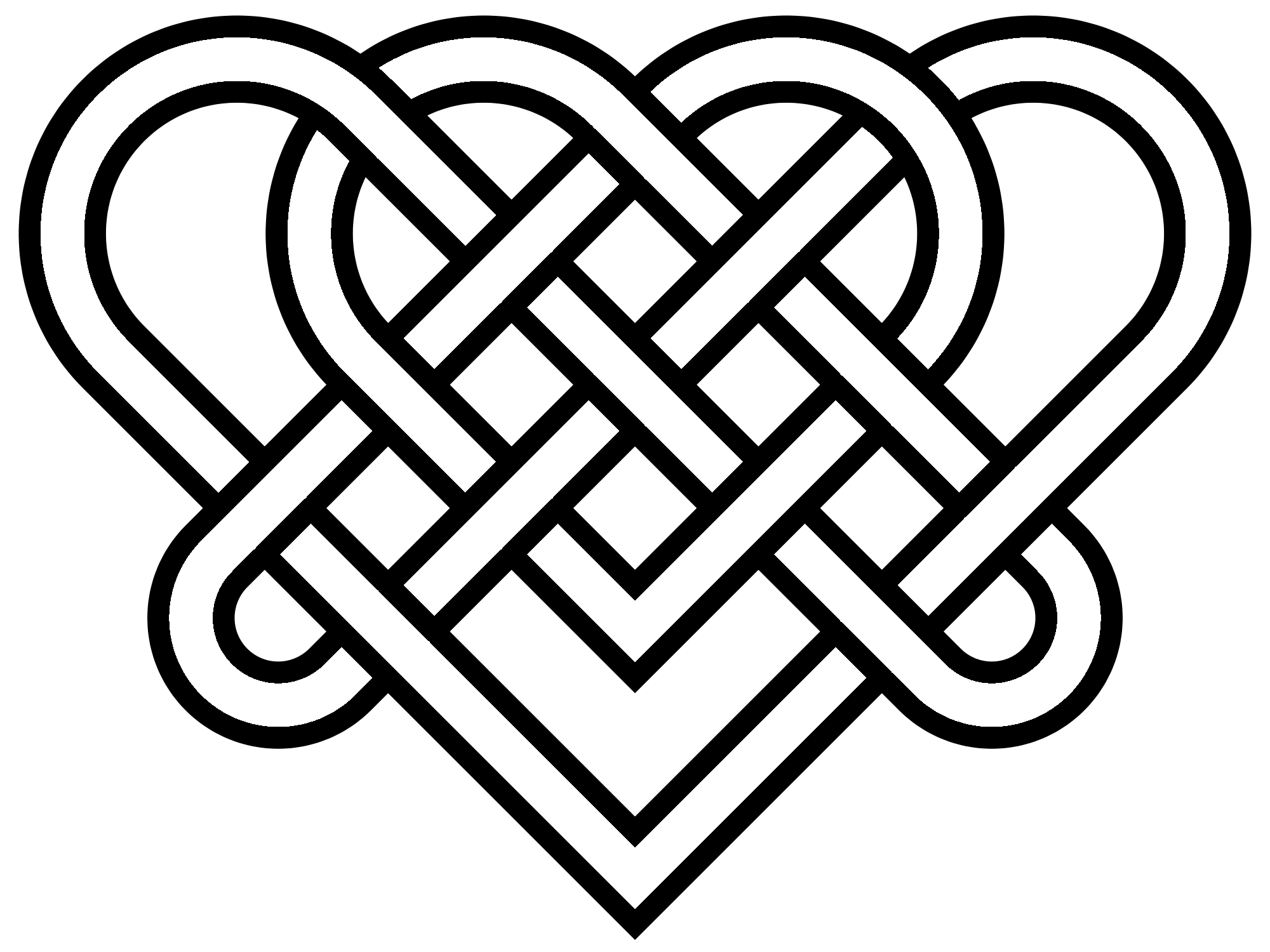 Celtic heart knot clipart vector royalty free download Heart Celtic Knot transparent PNG - StickPNG vector royalty free download