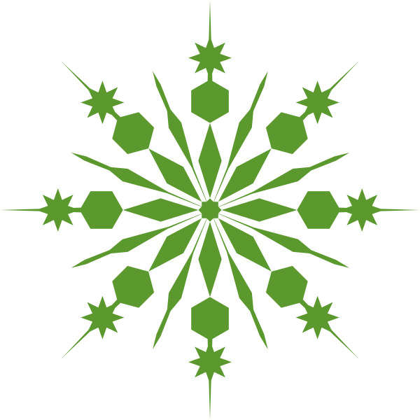 Celtic snowflake clipart transparent background svg black and white Green Snowflake Clip Art at Clker.com - vector clip art online ... svg black and white