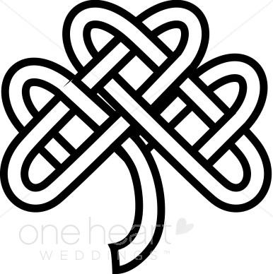 Celtic symbols clipart banner transparent download Celtic Knot Shamrock Clipart | Celtic Wedding Clipart banner transparent download