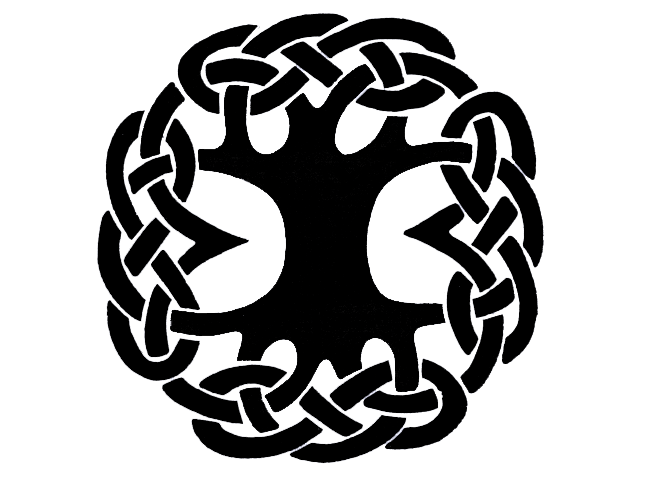 Celtic tree clipart picture black and white download Celtic Knot Circle Tattoo transparent PNG - StickPNG picture black and white download