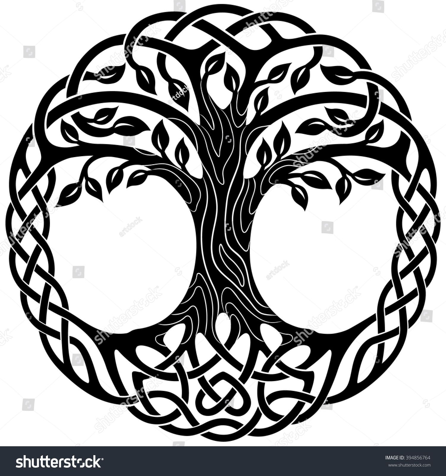 Celtic tree clipart vector free library Vector ornament, decorative Celtic tree of life | Celtic symbols ... free library