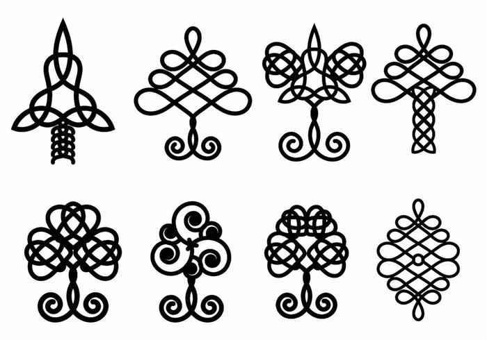 Celtic tree clipart vector image freeuse download Celtic Tree Vector Set - Download Free Vector Art, Stock Graphics ... image freeuse download
