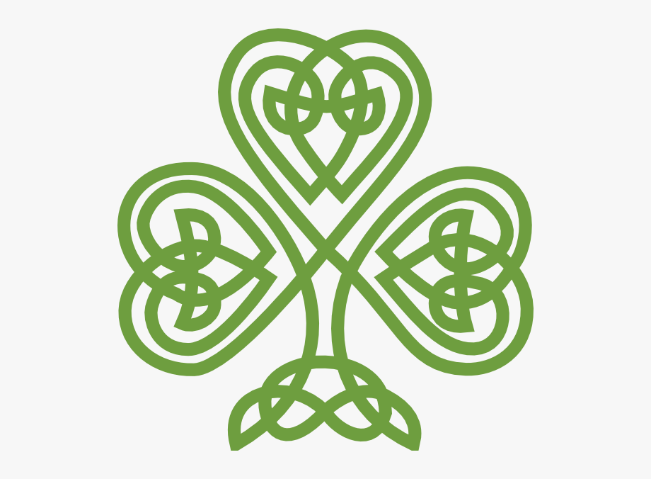 Celtic clipart vector image library library Irish Art Shamrock Clip Vector Online Royalty - Celtic Knot Shamrock ... image library library