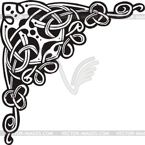 Celtic vector clipart clipart black and white stock Celtic decorative corner - vector clipart clipart black and white stock
