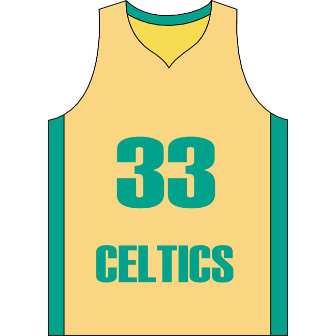 Celticcs clipart jersey vector royalty free Basketball jersey celtics free vector - Free vector image in AI and ... vector royalty free