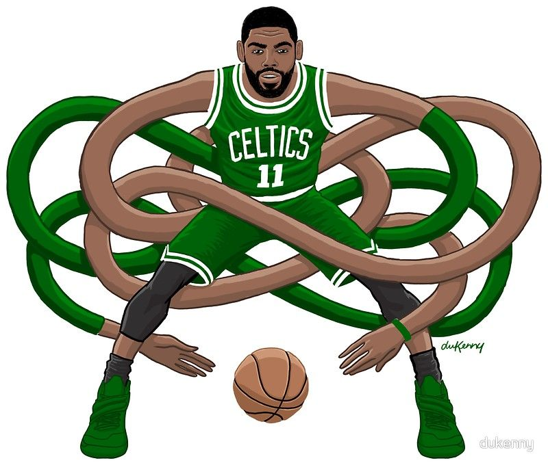 Celtics player clipart banner free stock Gnarly Kyrie Celtics\' Sticker by dukenny | Basketball | Kyrie irving ... banner free stock