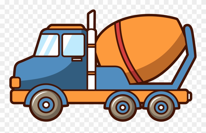 Concrete truck clipart jpg freeuse library Car Concrete Mixer Truck Architectural Engineering - Cartoon Cement ... jpg freeuse library