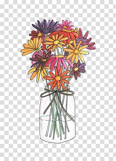 Centerpieve clipart clipart library Art , assorted-colored petaled flower centerpiece drawing ... clipart library