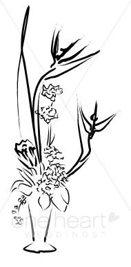 Centerpieve clipart clip art transparent download Flower Centerpiece Clipart | Elegant Wedding Flower Sketches clip art transparent download