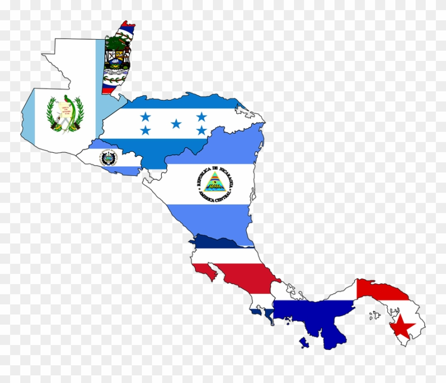 Central america clipart graphic transparent stock Map Flag Clipart Music - Central America Map With Flags - Png ... graphic transparent stock