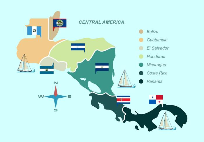 Central america clipart svg download Central America Map Free Vector Art - (798 Free Downloads) svg download