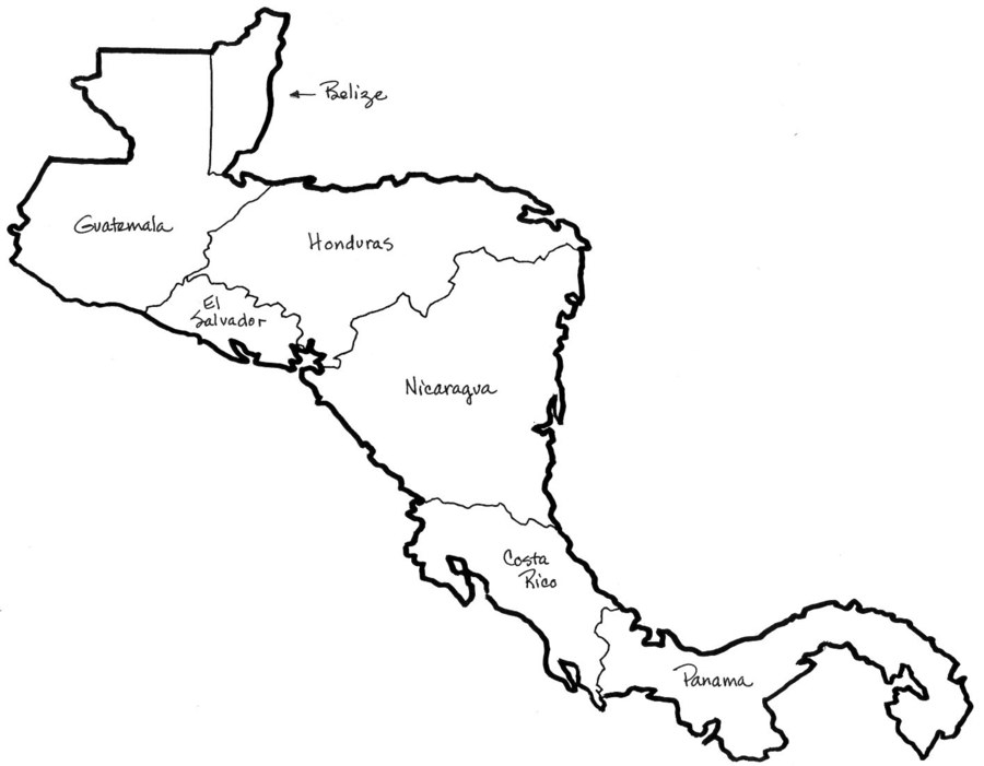 Central america clipart picture freeuse stock Download central america map to color clipart Central America United ... picture freeuse stock
