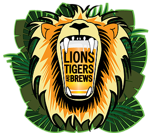 Central park zoo logo clipart. Lions tigers and brews