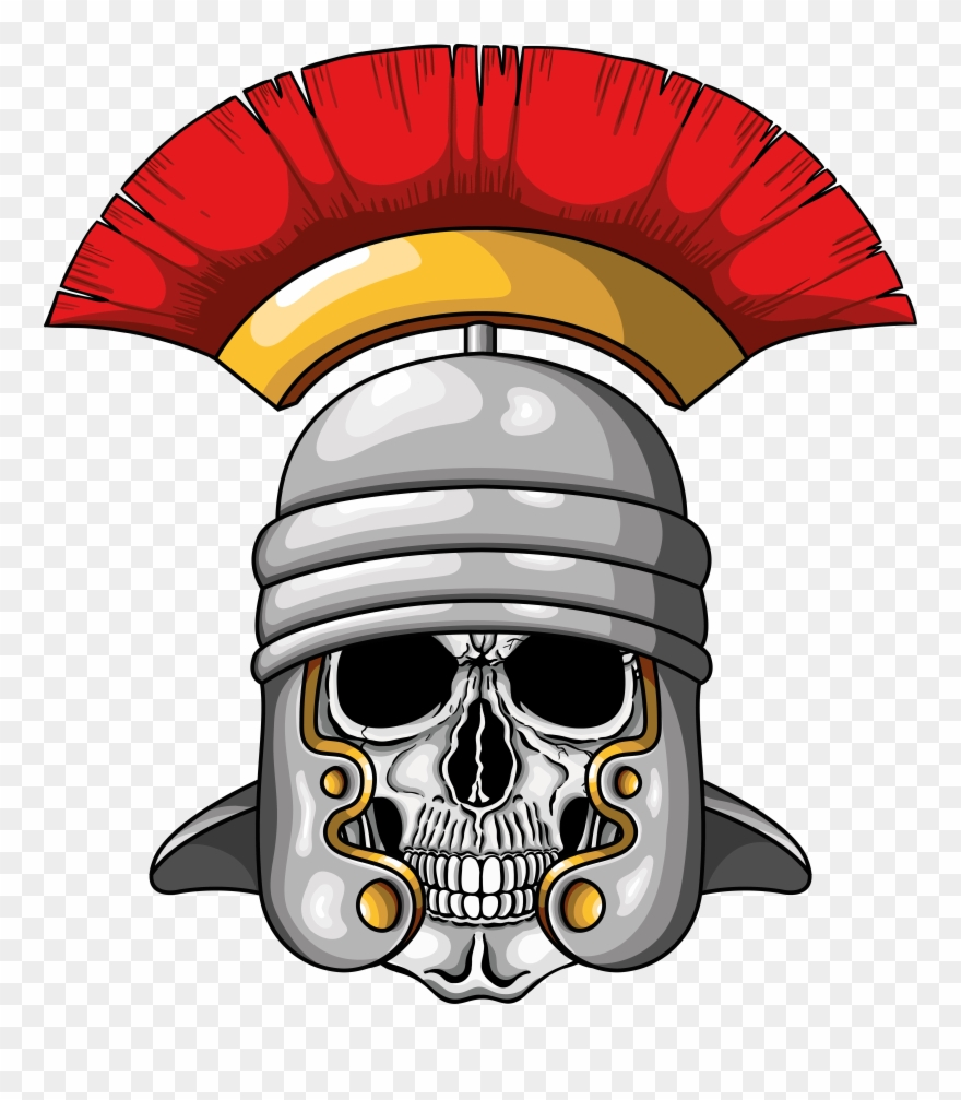 Centurion images clipart clip freeuse library Illustration Of Centurion Human Skull With Roman Helmet, Clipart ... clip freeuse library