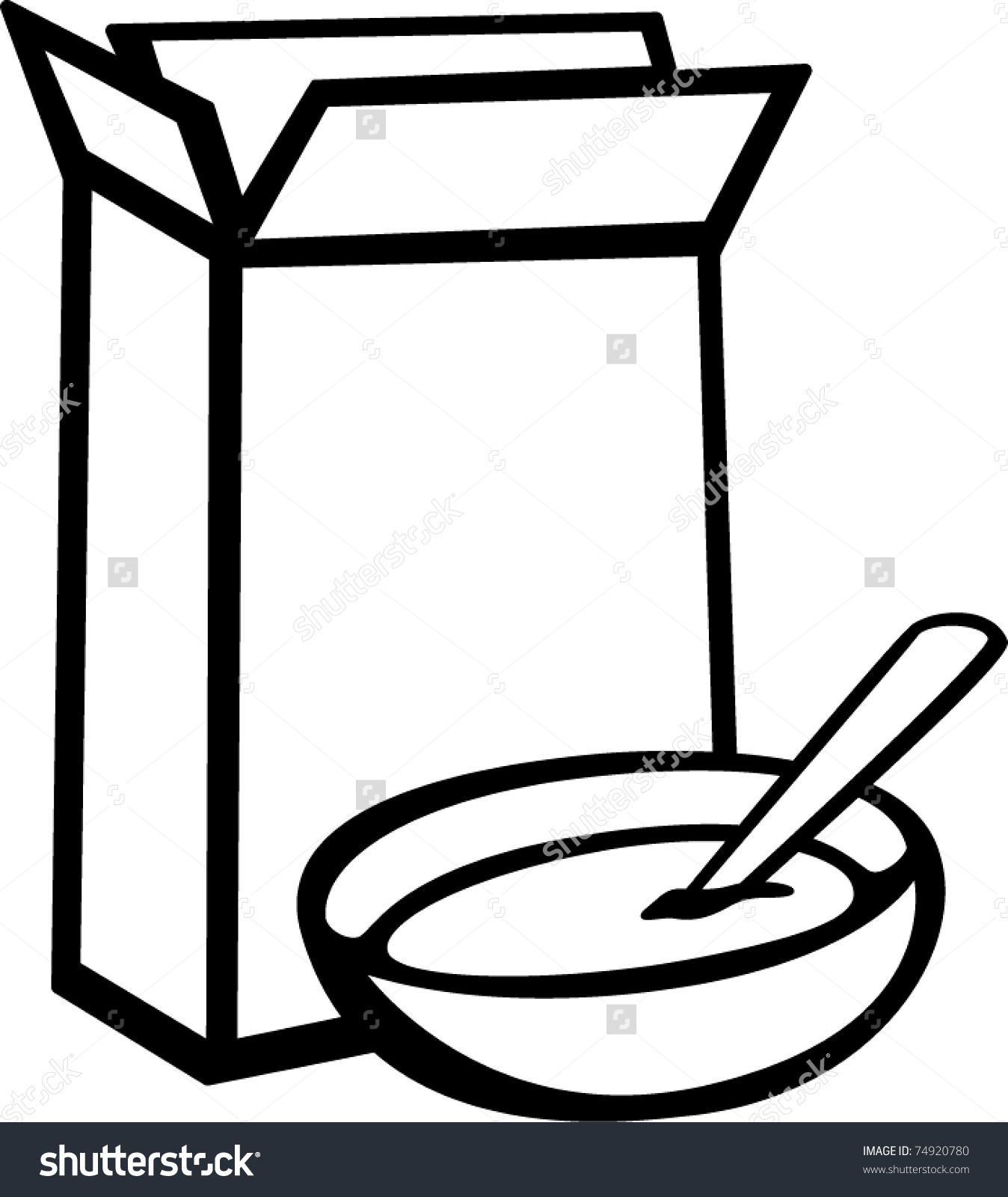 Cereal box and bowl clipart black and white banner free Pictures Of Cereal In A Bowl | Free download best Pictures Of Cereal ... banner free