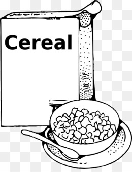 Cereal box and bowl clipart black and white png Collection of 14 free Cereal clipart outline bean clipart coffee ... png