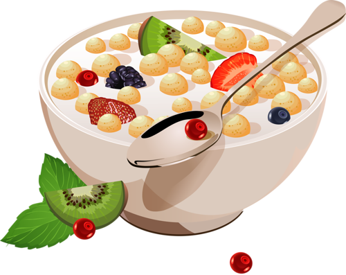 Cereales clipart image black and white download Разное | CLIP ART FOOD | Food advertising, Cereal recipes, Food drawing image black and white download