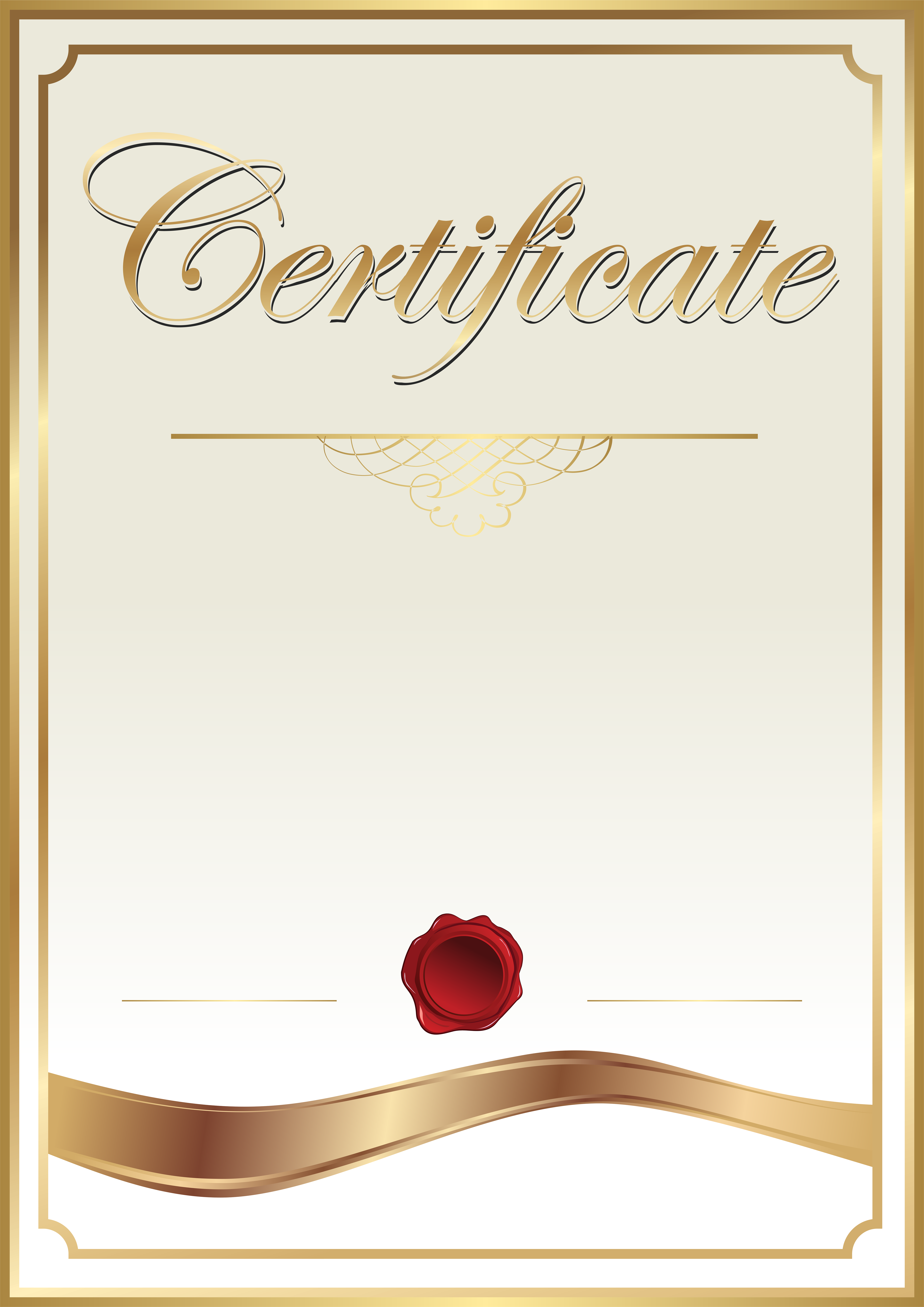 Certficate clipart picture royalty free Certificate Template Clip Art PNG Image | Gallery Yopriceville ... picture royalty free