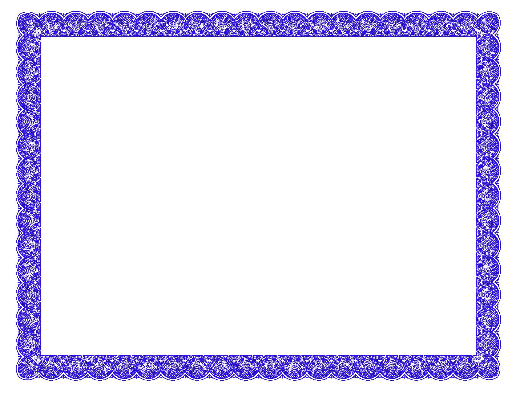10 Free Certificate Border PSD Images - Blue Certificate Border Clip ... image transparent download