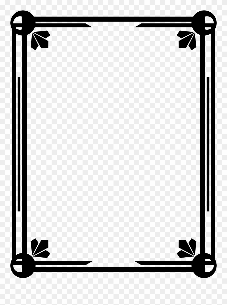 Big Image - Certificate Border Template Black Clipart (#3558018 ... clip art library library