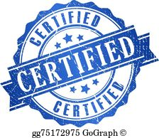 Certified clipart graphic royalty free download Certified Clip Art - Royalty Free - GoGraph graphic royalty free download