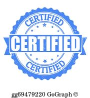 Certified clipart vector free stock Certified Clip Art - Royalty Free - GoGraph vector free stock
