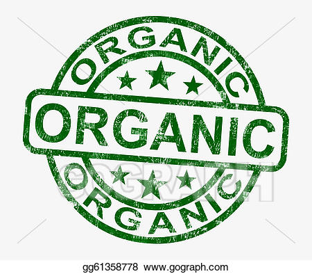 Certified organic clipart svg download Stock Illustration - Organic stamp shows natural farm food. Clipart ... svg download