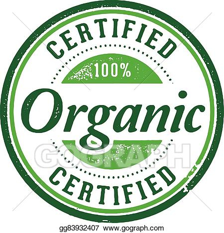 Certified organic clipart png black and white stock EPS Vector - Certified organic product stamp. Stock Clipart ... png black and white stock