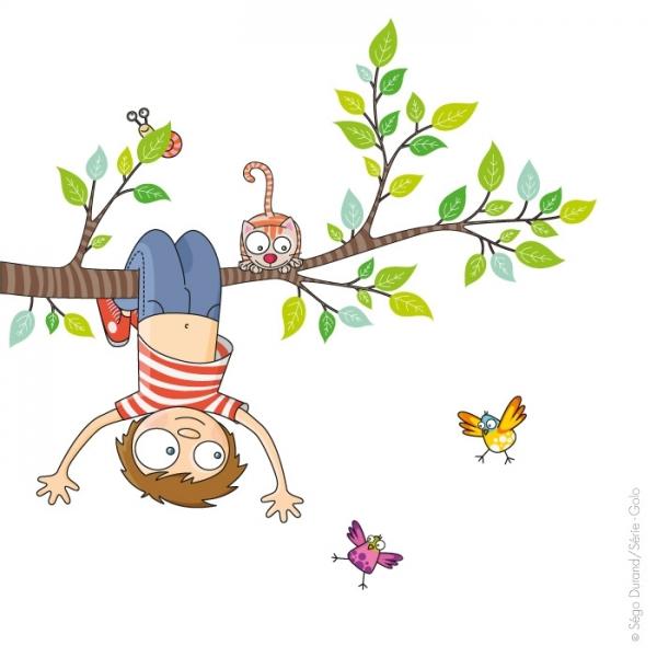 Cest le printemps clipart clip royalty free Sticker C'est le printemps, déco chambre bébé & enfant - Série-Golo clip royalty free