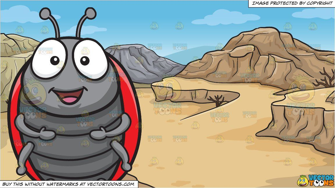 A Cheerful Ladybug and A Desert Canyon Background | Clipart Scenes ... banner free library