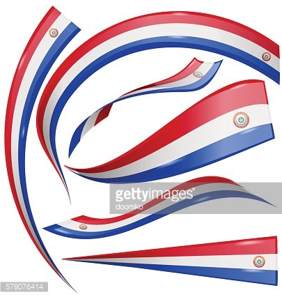 Paraguay Flag Set Isolated ON White Background premium clipart ... jpg black and white