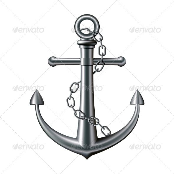 Chain and anchor circle clipart image library library Anchor on White Background | Fonts-logos-icons | Anchor illustration ... image library library