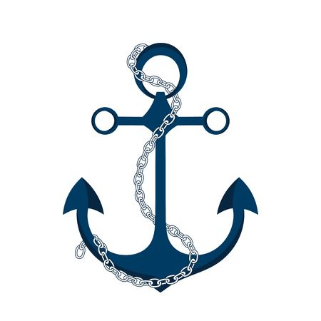 Chain and anchor circle clipart vector transparent library Anchor And Chain Clipart vector transparent library
