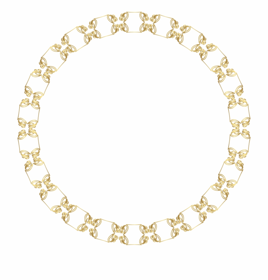 Chain gold circle clipart image black and white stock Necklace Clipart Round Gold - Revlon Candid Foundation Color Wheel ... image black and white stock