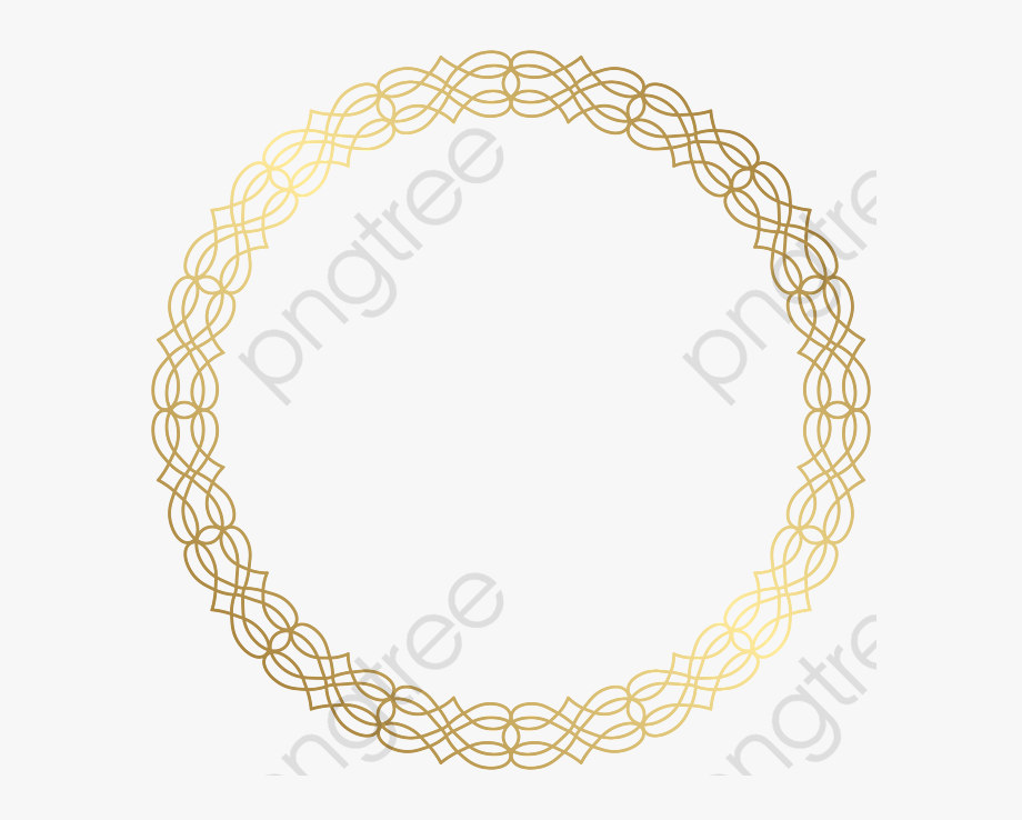 Chain gold circle clipart svg library download Chain Clipart Round - Gold Circle Frame Png #321076 - Free Cliparts ... svg library download