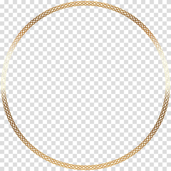 Chain gold circle clipart image Jewellery chain Necklace Gold Charms & Pendants, round border ... image