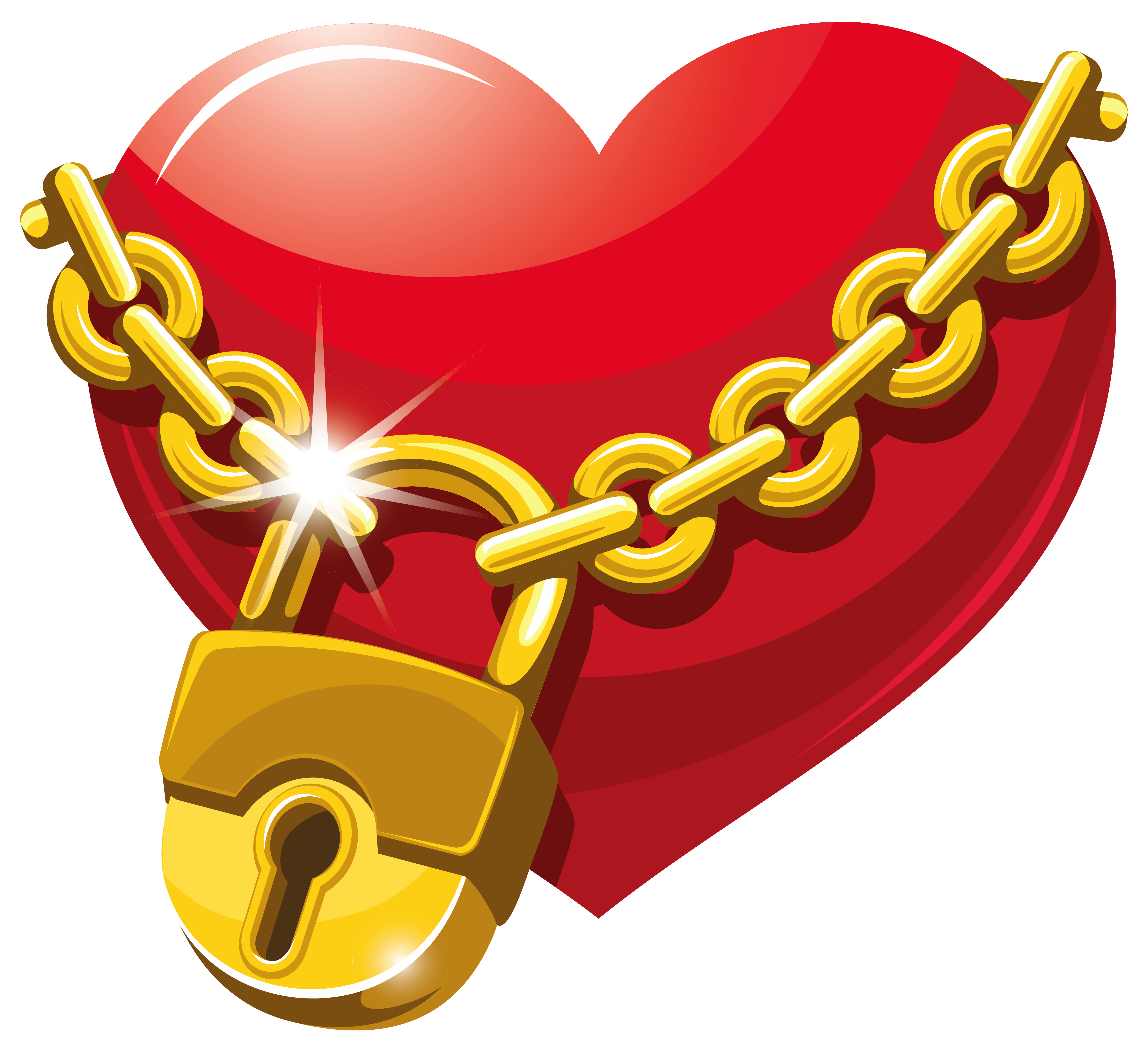 Chain link heart clipart transparent download Locked Heart PNG Clipart | Gallery Yopriceville - High-Quality ... transparent download