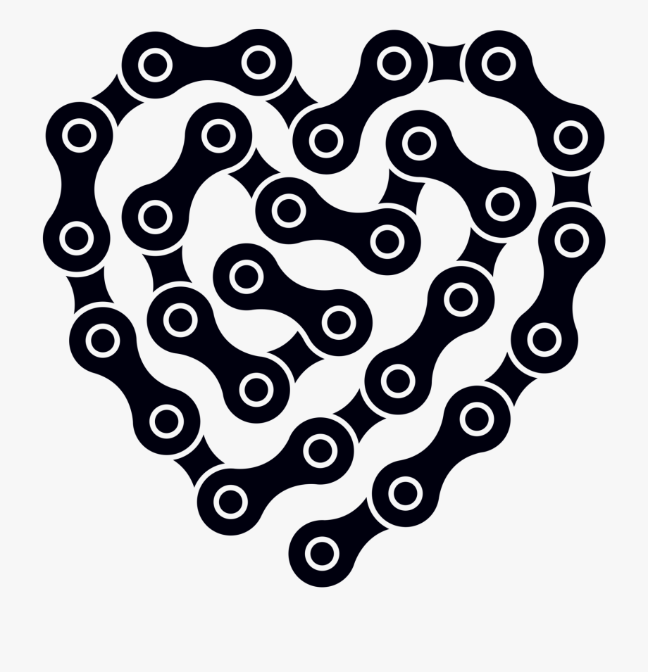 Chain link heart clipart svg freeuse stock Heart Links By Jennifer - Bike Chain Heart Vector #819487 - Free ... svg freeuse stock