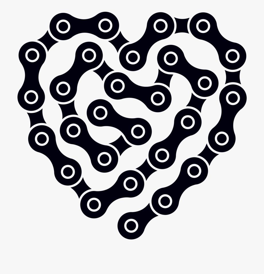 Heart Links By Jennifer - Bike Chain Heart Vector #819487 - Free ... svg freeuse stock