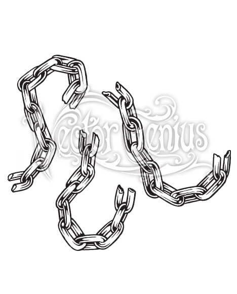 Chain of action clipart image black and white Broken Chain Clipart image black and white